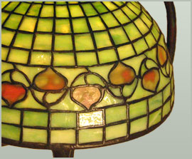newly crafted tiffany acorn shade