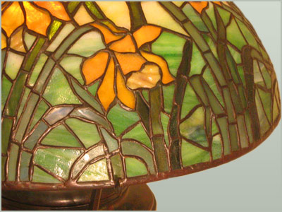 In the Style of Tiffany - Daffodil Table Lamp