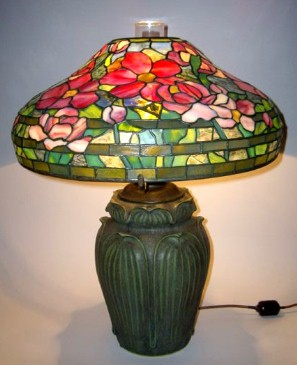 In the Style of Tiffany - Peony Table Lamp