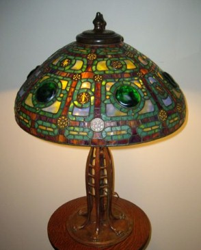 In the Style of Tiffany - Zodiac Table Lamp